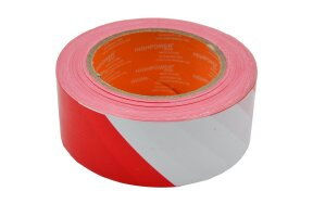 PE WARNING TAPE RED-WHITE 50mmx200m
